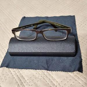 PRADA Frames Prescription Glasses w/ Case & Cloth